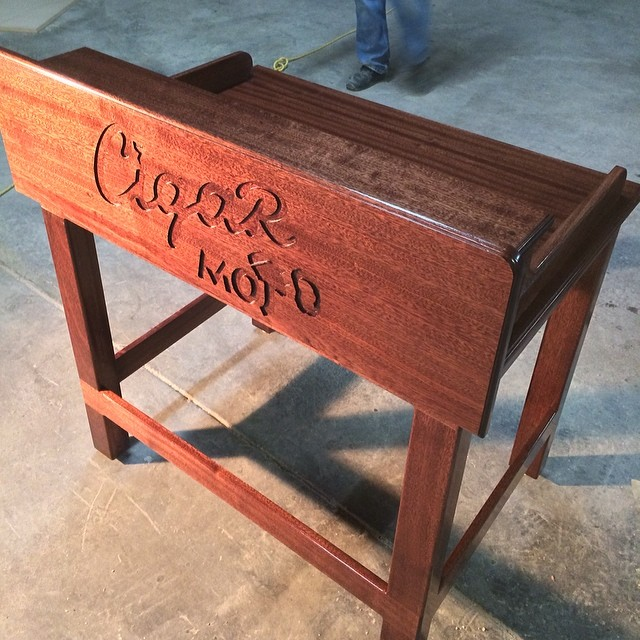 Custom Cigar Rolling Table