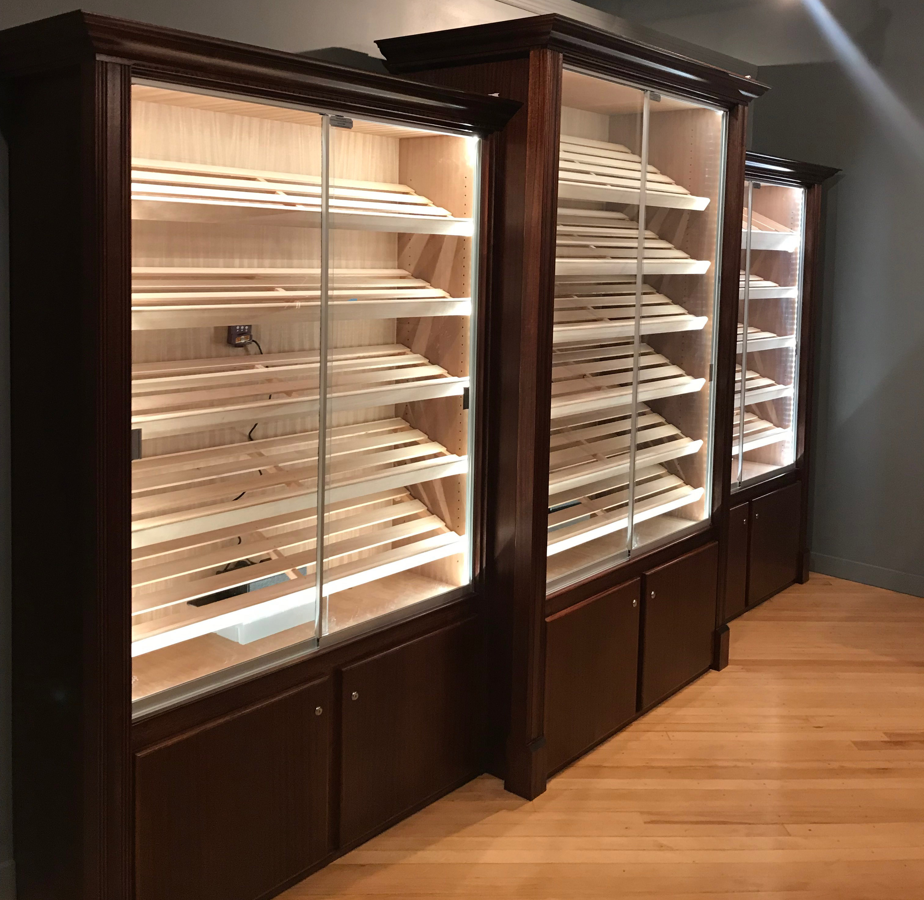 display cabinet humidor