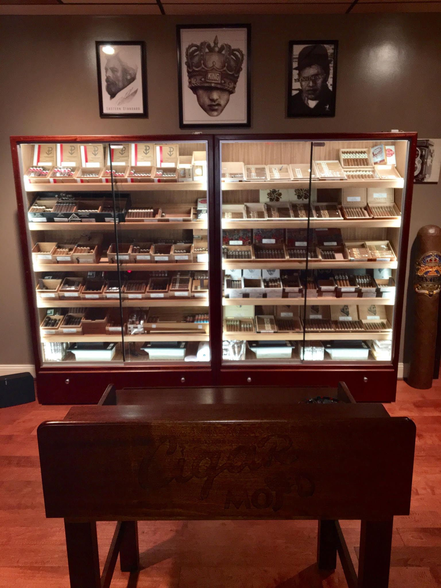 H-616 Humidors with Custom Rolling Table