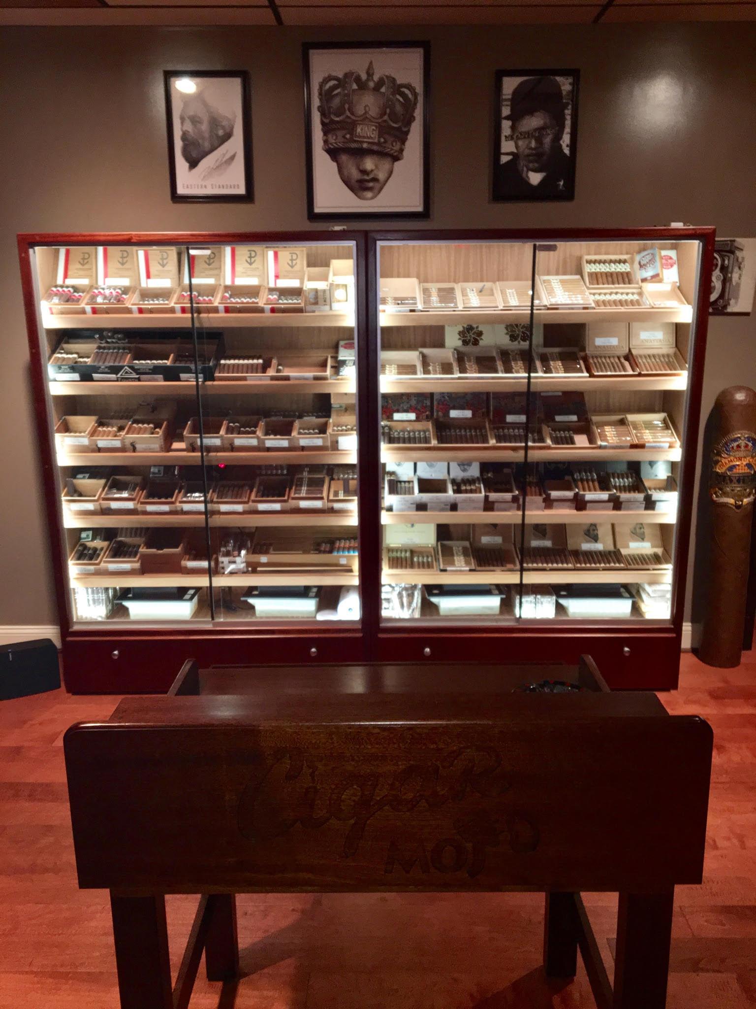 H-616 Humidors w/ Custom Rolling Table – Cigar Mojo KOP