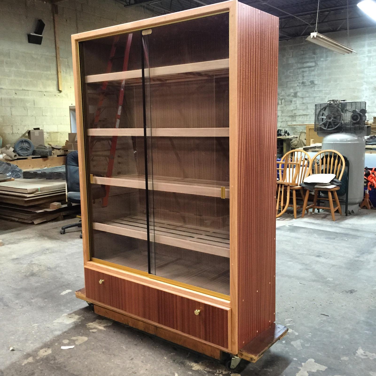 Ribbon Stripe Sapele Mahogany Storage Humidor