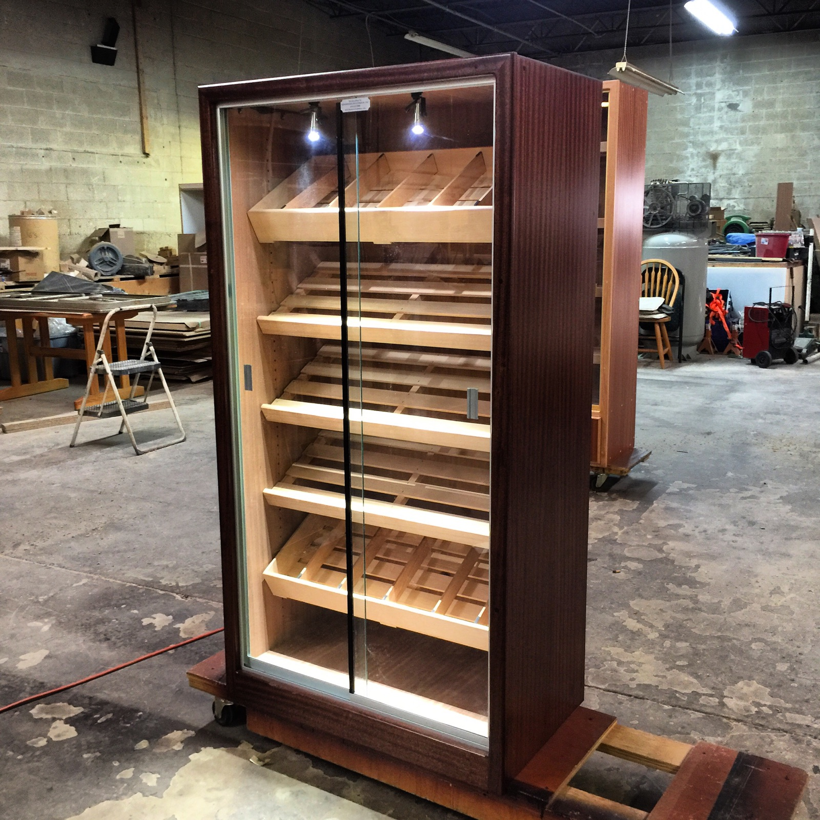 Custom Office Humidor  32″ x 18 3/8″ x 60″
