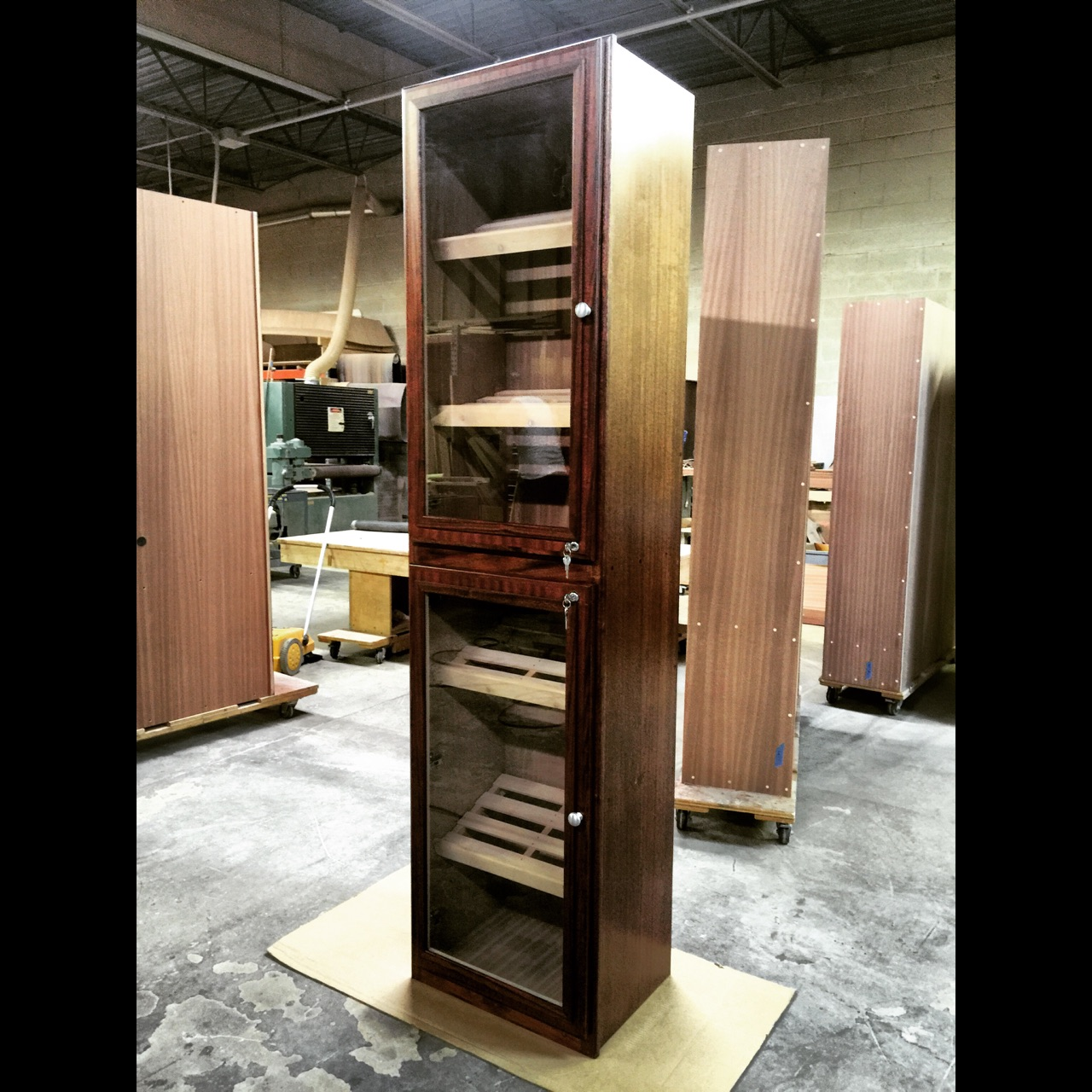 Custom Tower Humidor w/ Swing Doors