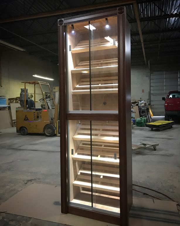 Custom Tower w/ Fluted Molding Package and LED Mini Track Lighting