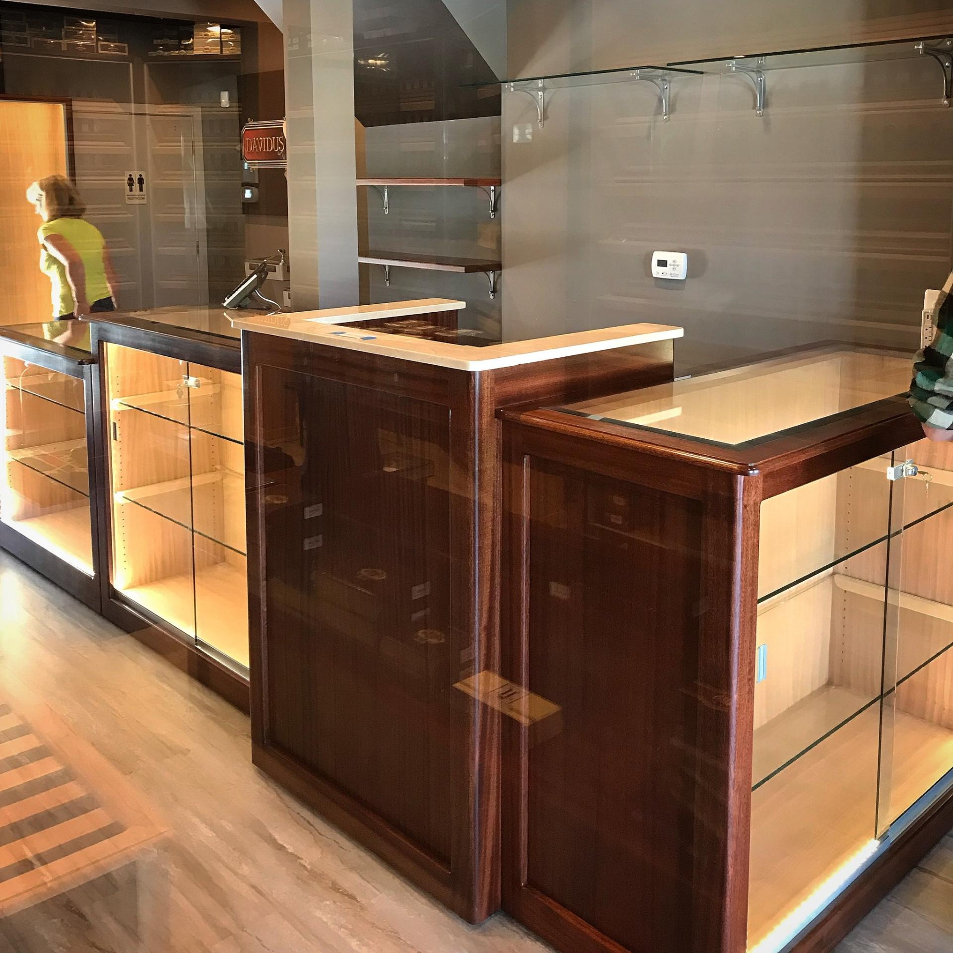 Point of Sale Counters – ADA – Wood, Glass & Stone