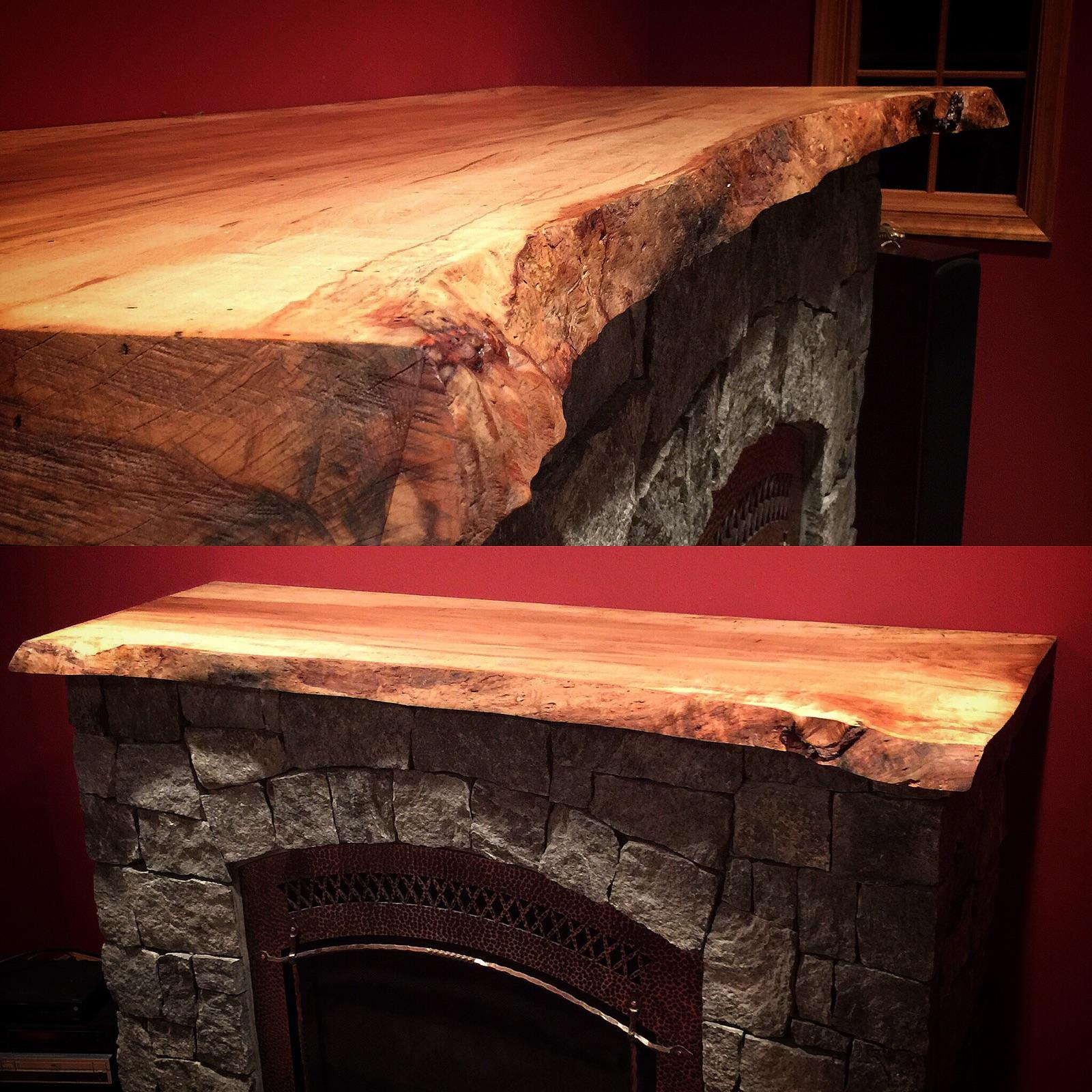 Live Edge Maple Mantle