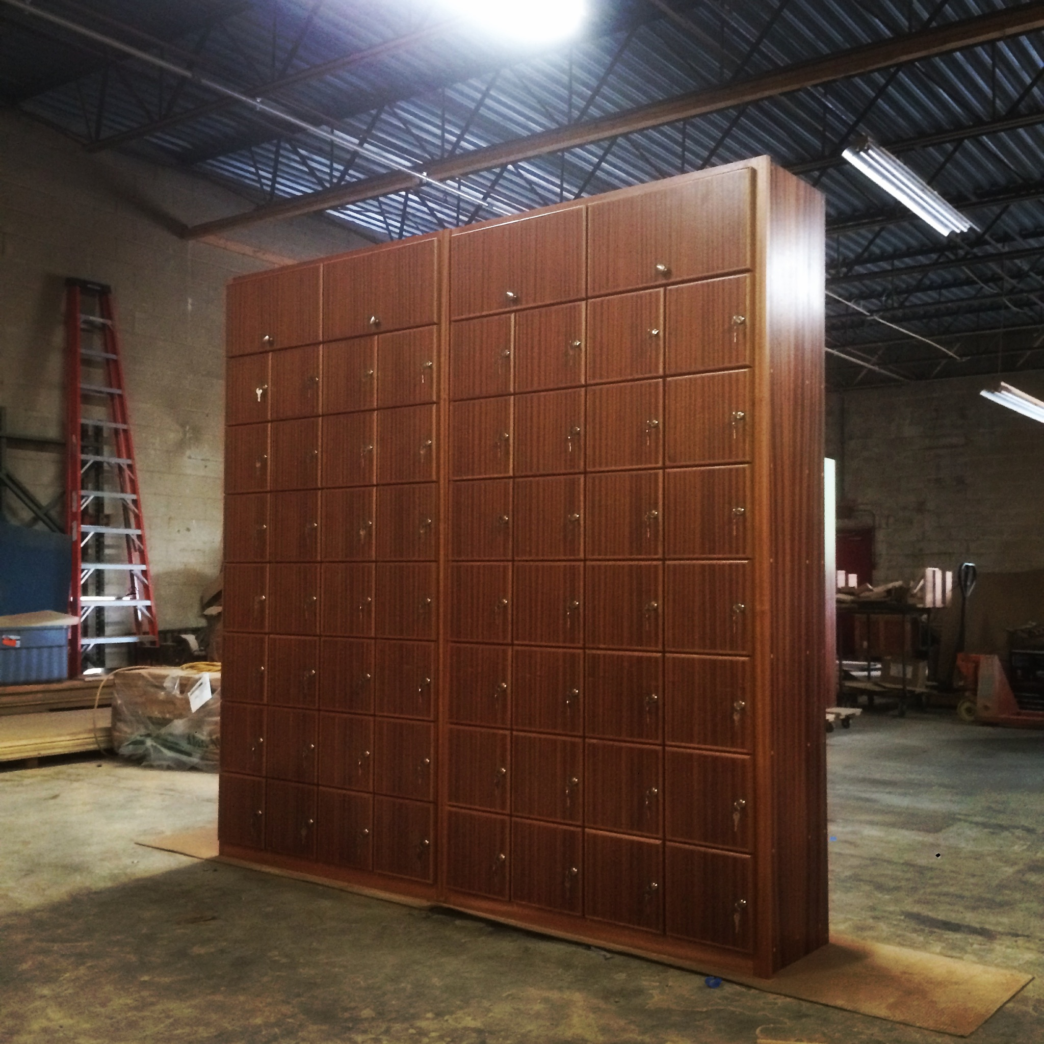 Mahogany Qty 56 Locker Module