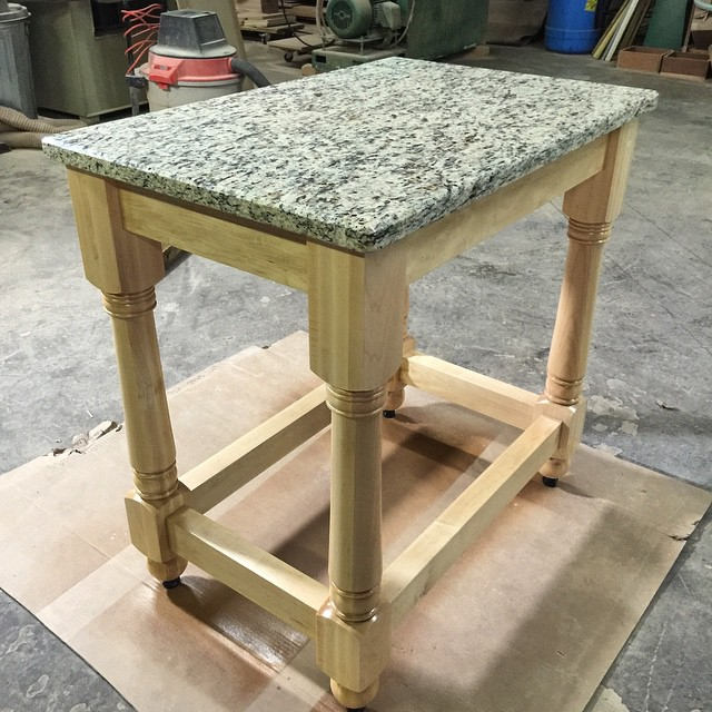 Maple & Granite Kitchen Island