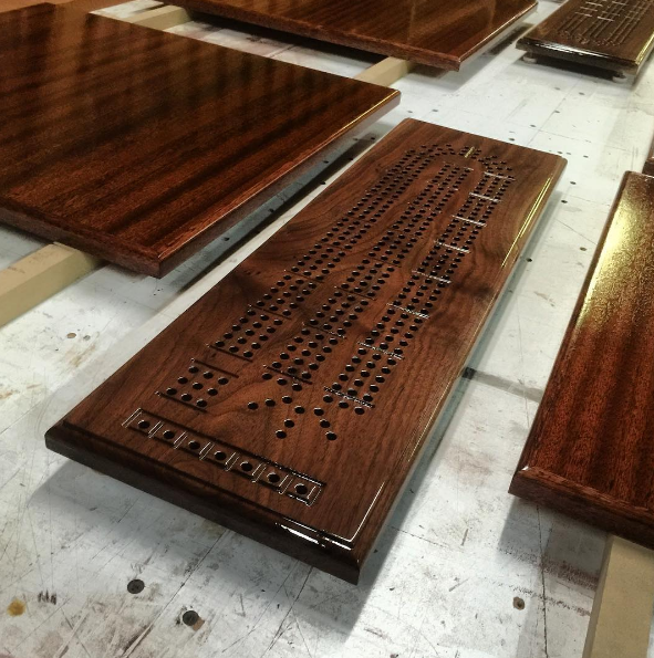 Cribbage Board from a Walnut Tree
